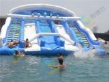 供應利德爾遊樂支架游泳池,移動水上樂園項目,水上衝關價格
