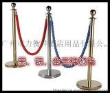 不锈钢栏杆护栏柱 栅栏 1米线隔离带排队柱 警戒围栏隔离伸缩带