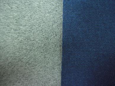 海绵汗布复合植绒面料(运动服装用)