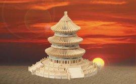 木制仿真模型拼板玩具-天坛