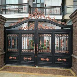 天津河西區金屬庭院大門圍牆鋅鋼護欄定制設計