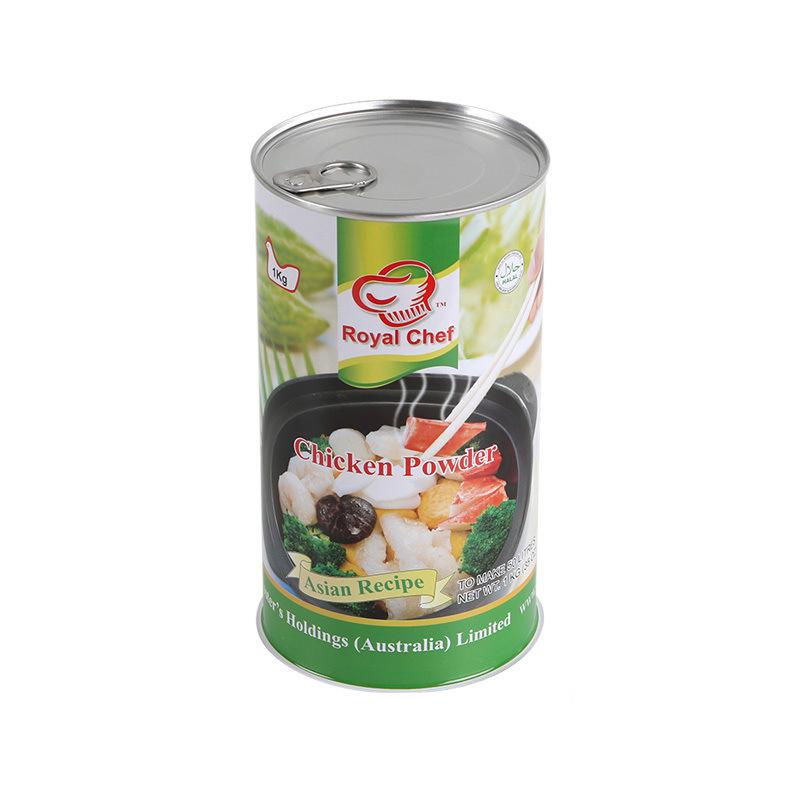 1KG鸡精粉铁罐定做/食品包装罐/马口铁密封罐