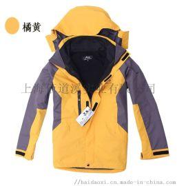 新款户外冲锋衣三合一抓绒两件套滑雪服冲锋衣定制