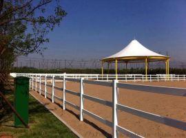广东云浮牧场隔离栏杆PVC农场围墙护栏美式马场护栏