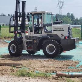 越野叉车 3吨多功能四驱起重机 5吨四轮柴油叉车