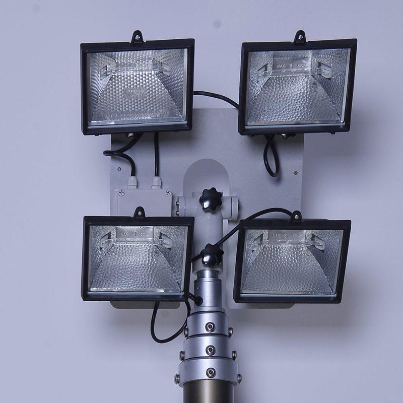 夜间施工移动照明车、气动或手动升降杆