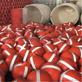 上海海洋**示塑料浮球滚塑系泊浮球