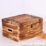 六支雙層烤色紅酒木盒翻蓋木質紅酒包裝禮盒