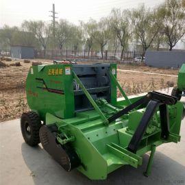 秸秆粉碎捡拾圆捆机 粉碎式玉米秸秆打捆机