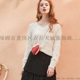 时尚简约风女装百图春夏品牌专柜尾货走份货源
