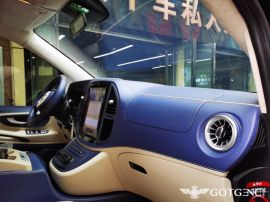 奔驰威霆内饰改装商务车航空座椅木地板升级西安改个车