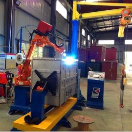 供应广州创研爆款 双工位移载型充气柜机器人焊接系统