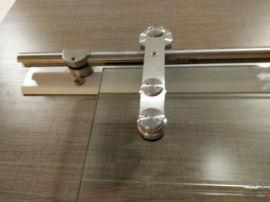 德国工艺不锈钢滑轮办公静音耐磨玻璃吊趟滑轮