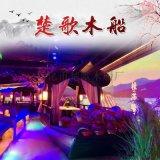 吕梁岚县桂满陇装饰船吃饭喝茶的木船供应