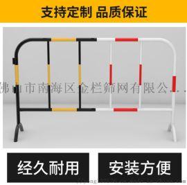 常规黄黑铁马现货,市政作业铁马护栏,不锈钢临时围栏