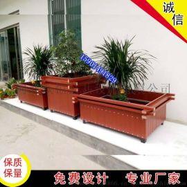 1.2*1.2米花箱 塑木花槽带杠的花箱成品花架