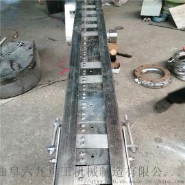 链条式输送机 铁件运输链板输送机调试厂家 Ljxy