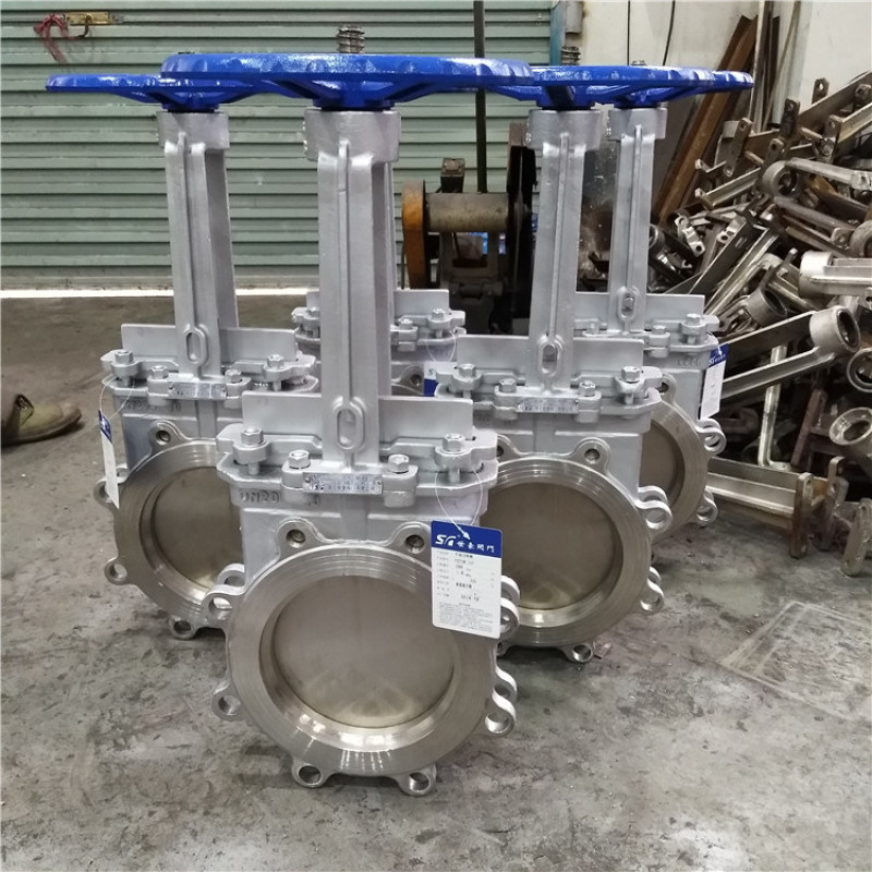 高溫灰渣閥 不鏽鋼薄形閘閥 對夾式刀形閥PZ73W