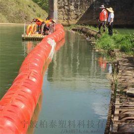 水上导漂定位圆柱状排放垃圾拦污浮筒