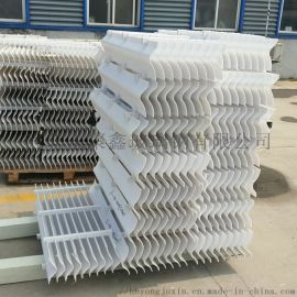 玻璃钢除雾器pp折流板带钩式脱硫塔喷淋塔除雾器s型