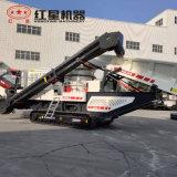 新型節能移動碎石機 礦石石頭新型節能移動碎石機  紅星履帶式煤炭破碎機