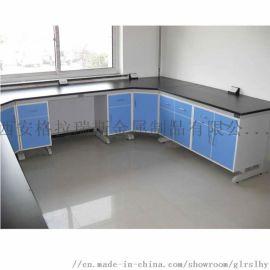 理化实验台钢木中央台全钢边台现货化学试验桌实验室工作台操作台