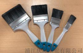 高品质塑料柄纤维毛刷油漆刷,不掉毛耐酸碱