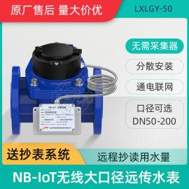 分散安裝NB大口徑水表 捷先無線遠傳智慧水表6寸