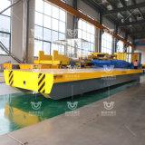 30吨混凝土驻厂区轨道电动搬运过跨平板四轮万向车