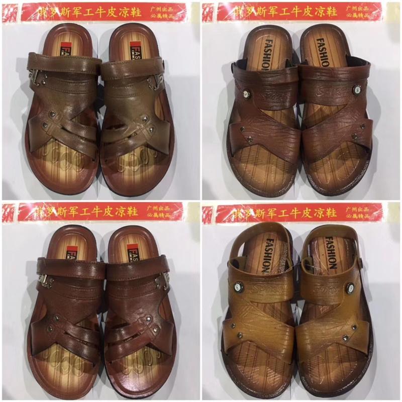 地攤跑江湖俄羅斯軍工牛皮涼鞋在哪賣