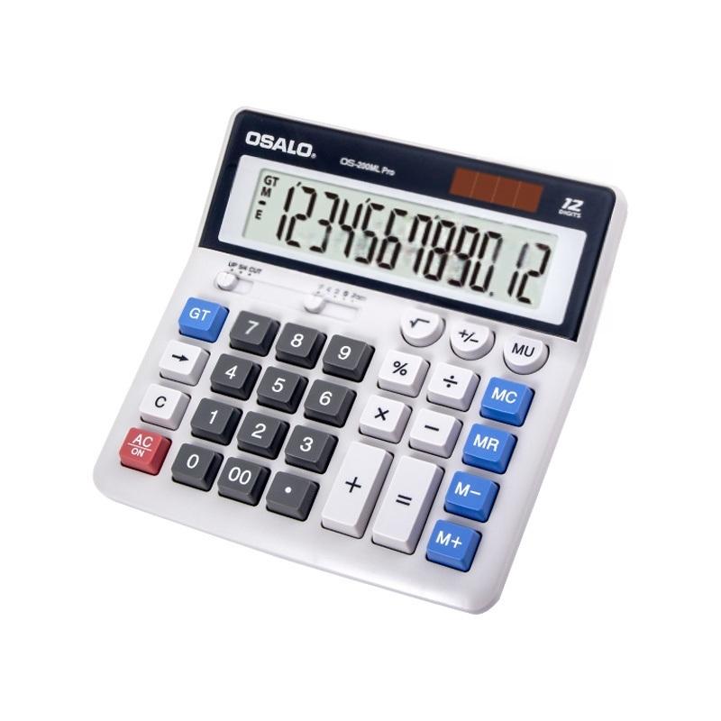12 位數雙電源電腦按鍵辦公檯式桌面計算器