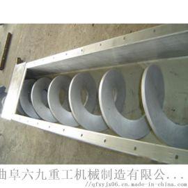 大米提升机价格 大管径不锈钢螺旋提升机 六九重工