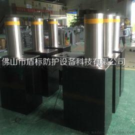 会展中心自动液压升降柱 挡车柱 LED灯显示路障机