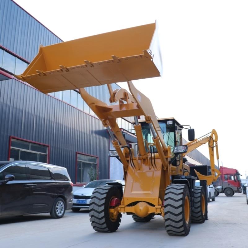 28型多功能果园农用两头忙 挖掘装载机直销