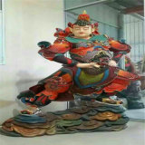 江苏佛像定做厂家,玻璃钢木雕韦陀菩萨生产塑造厂家