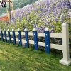 园艺草坪护栏PVC围栏栏杆绿化区防护围栏厂家