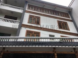 贵州风貌街改造筒瓦 隔热防腐高分子瓦