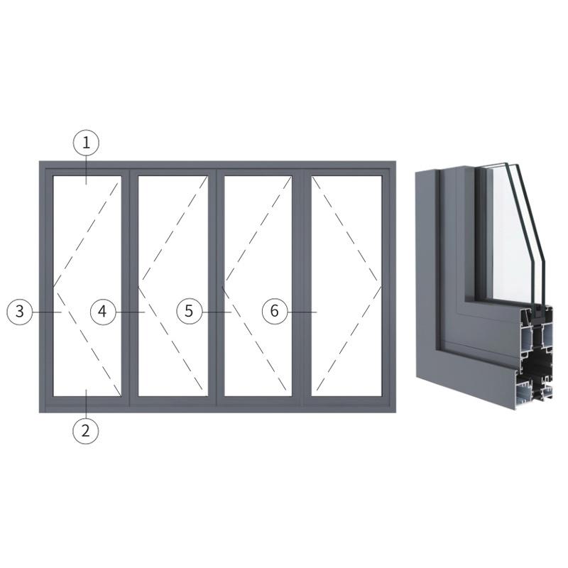 广东兴发铝材创高AL80A系列隔热折叠门