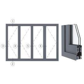廣東興發鋁材創高AL80A系列隔熱折疊門