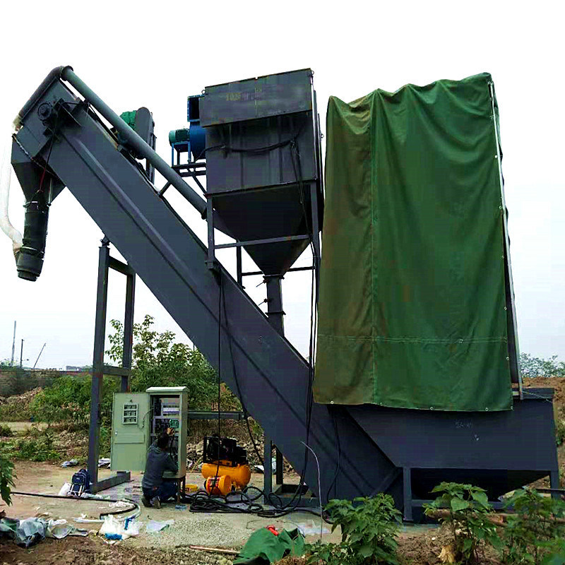 通暢碼頭集裝箱卸灰機 粉煤灰拆箱機 環保卸車機