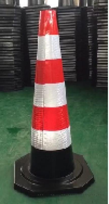 90cm橡胶路锥高速专用雪糕桶反光路障锥形筒