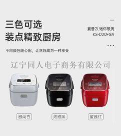 夏普(SHARP)日本电饭煲 迷你多功能智能电饭锅小 1-2-3人 KS-D20FGA
