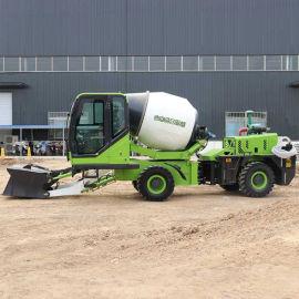 水泥罐车混凝土 自动上料搅拌车搅拌混泥土2方
