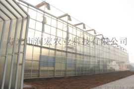 现代农业垂直立体栽培种植玻璃温室