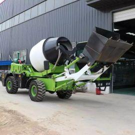移动式自动上料搅拌车 装卸一体混凝土搅拌机