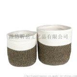 定製棉繩筐編織筐收納籃 北歐收納籃 整理筐收納籃