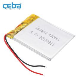 430mAh报警器警示灯LP283643聚合物电池