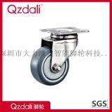 不鏽鋼PU輕型腳輪聚氨酯腳輪