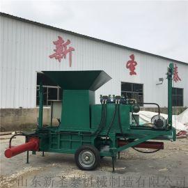 玉米秸秆压块机 青储饲料压包机
