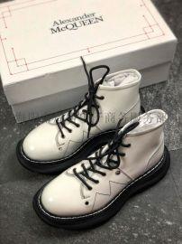莆田亚历山大麦昆小白鞋女靴子工厂货一件代发